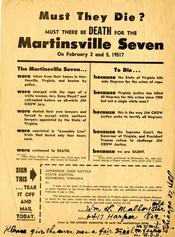 Martinsville Seven executed