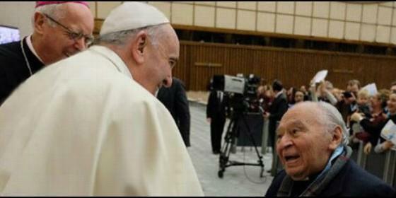 Fue recibido por el papa Francisco