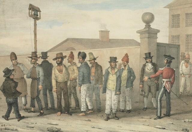 British prisoners settled in Australia