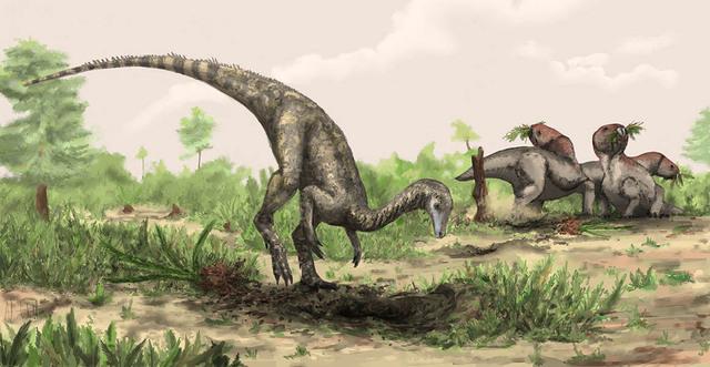De første dinosaurene