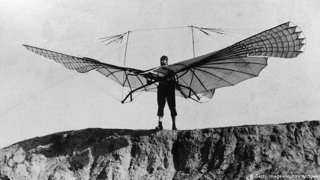 Lilienthal and his glider flights