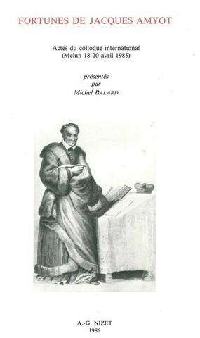 Jacques Amyot- Vies parallèles de Plutarque (1559)