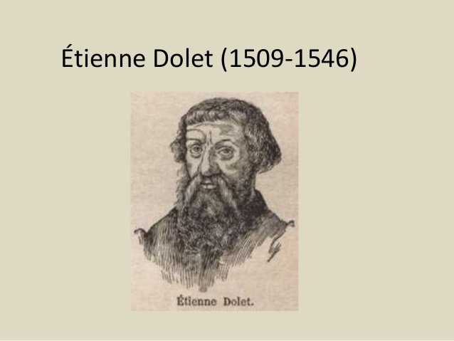 Étienne Dolet (1509- 1546)