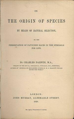 """Llibre """"El origen de las especies"""""""