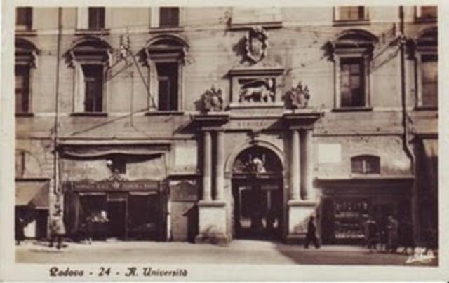 His years at the University of Padua