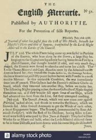 El primer periódico inglés