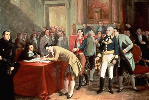 Iturbide firma el Plan de Iguala y lo envía al virrey Apodaca.