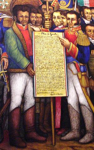 Iturbide da a conocer el Plan de Iguala a sus tropas