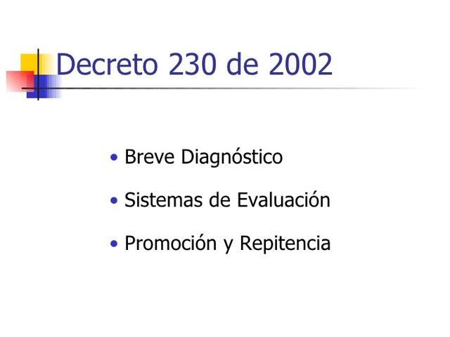 Decreto 230