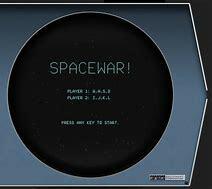 Criação do primeiro videojogo de computador Space War.