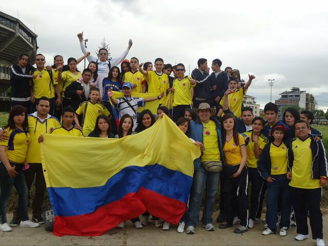 Colombia soccer match