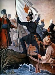 Ο Αλέξανδρος Υψηλάντης  στο Ιάσιο της Μολδοβλαχίας κηρύσσει την επανάσταση.