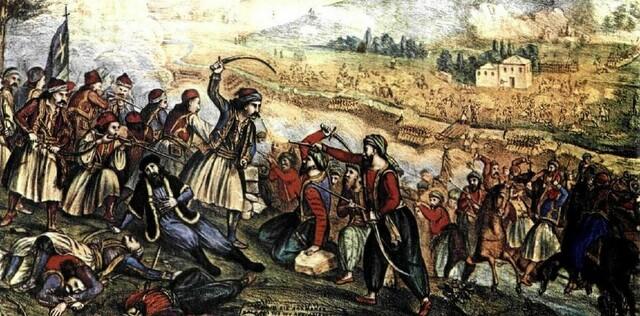 Μάχη της Αλαμάνας - μαρτυρικός θάνατος του Αθανάσιου Διάκου. Στη Χαλκωμότα φονεύεται πολεμώντας κατά των Τούρκων ο μητροπολίτης Σαλώνων Ησαΐας.
