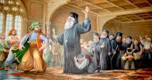 Οι Τούρκοι απαγχονίζουν στη Λευκωσία τον Αρχιεπίσκοπο της Κύπρου Κυπριανό και τους μητροπολίτες Πάφου, Κιτίου και Κυρήνειας.