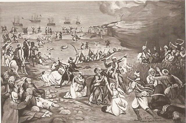 Καταστροφή της Κασσάνδρας στην  Χαλκιδική.