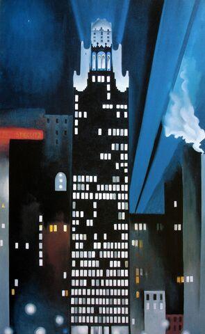 """""""The Radiator Building"""" por Georgia O´Keefe."""