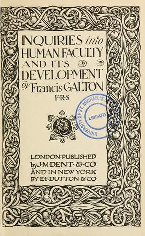 Published Inquiries Into Human Faculty And Its Development