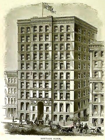 Montauk Building. por John Wellborn Root Sr. y Daniel Burnham