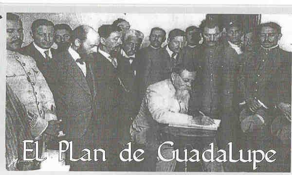 - Venustiano Carranza proclama el plan de Guadalupe.