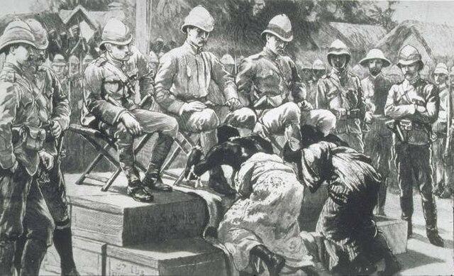 Victoria de la guerra indo-británica con la victoria de Reino Unido