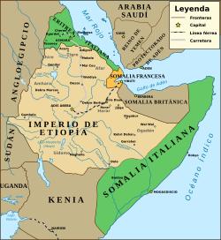 Italia conquista Somalia y Eritrea