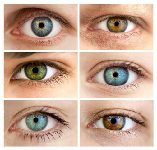 modificación del color del iris