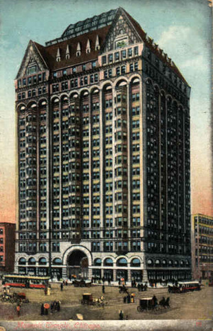 Templo Masónico (Chicago) por Burnham and Root.