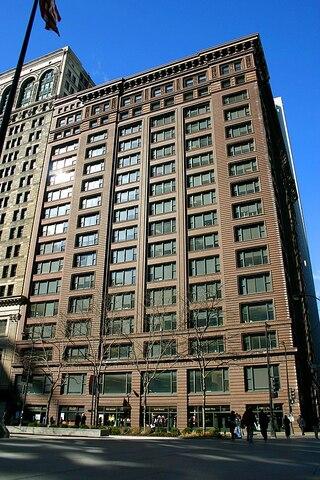Marquette Building (Chicago) por Holabird and Rocke.