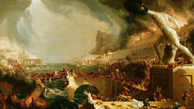 La decadència i l'esfondrament de l'Imperi Romà d'Occident