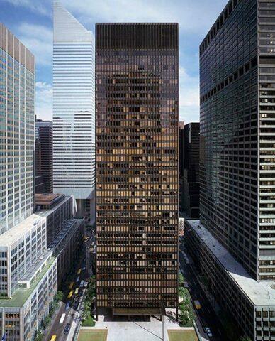 Seagram Building. por Mies Van der Rohe y Philip Johnson (375 Park Av. New York)