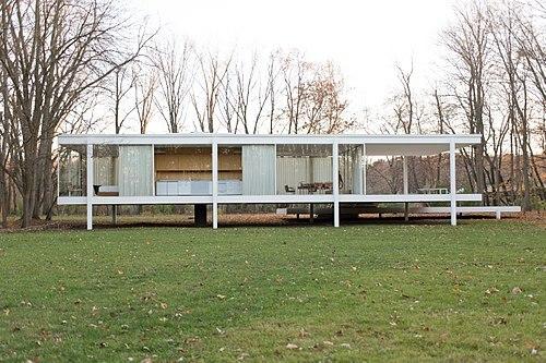 Casa Farnsworth por Ludwig Mies van der Rohe.
