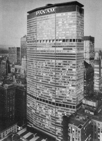 Pan-Am Building. (200 Park Av. New York) por Walter Gropius.