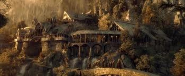 The Company of the Ring leaves Rivendell at dusk