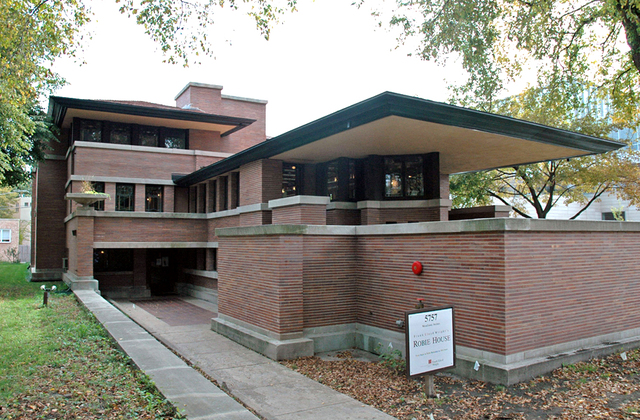 Casa Robie por Frank Lloyd Wright.