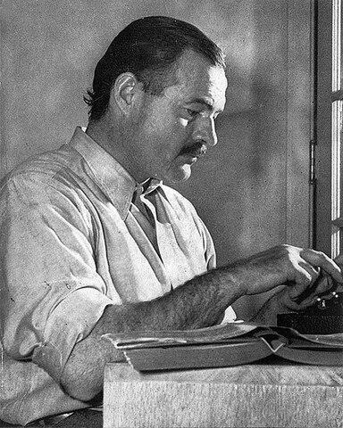 Ernest Hemingway  (1899-1961).