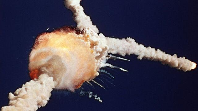 Accidente del transbordador espacial Challenger.