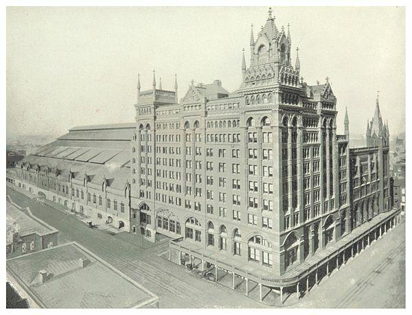 Broad Street Station (Philadelphia) por Wilson Brothers & Company.