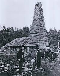 First oil well is struck in Titusville, Pennsylvania.
