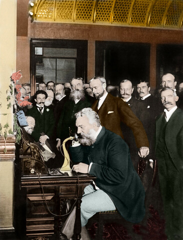 Alexander Graham Bell patents his telephone.