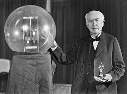 Thomas A. Edison makes the first successful incandescent lightbulb.