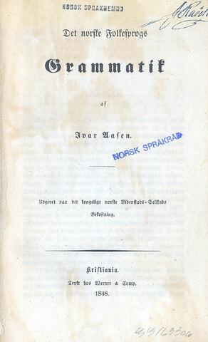 Ivar Aasen gav ut ordbok