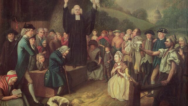 George Whitefield preaches in Baptist church in Charleston at start of First Great  Awakening