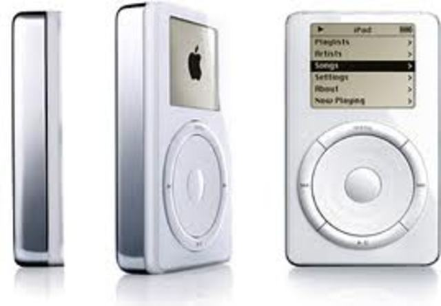 Steve Jobs unveils the first iPod