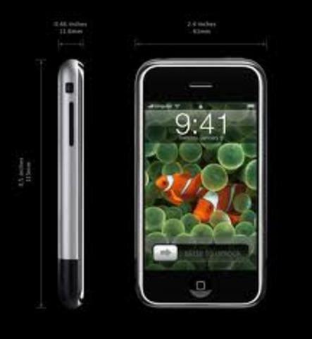 Steve Jobs Introduces the revolutionary iPhone.