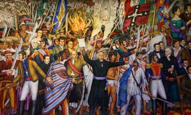 Iniciación de la Independencia de México.