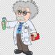 Gratis png cientifico de dibujos animados cientifico