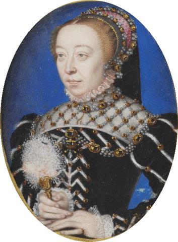 Catalina de Médici (1519 -1589). - Esposa de Enrique II de Francia.