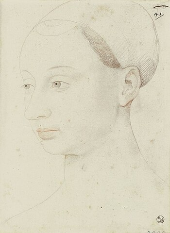 Agnès Sorel (1422 - 1450). - Amante de Carlos VII de Francia.