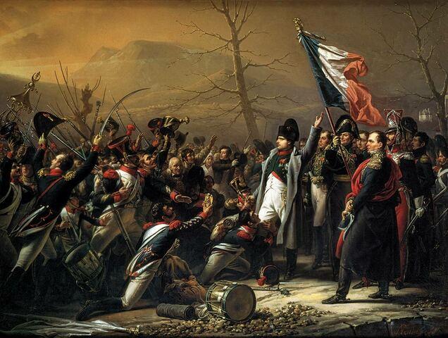 Napoleonek boterea hartu Frantzian.