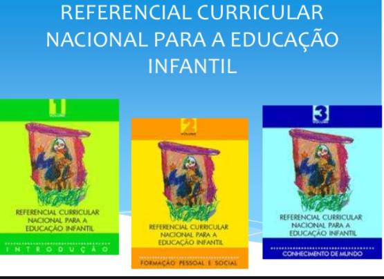RCNEI - Referencial Curricular Nacional para a  Educação Infantil e Resolução CNE Nº1/99